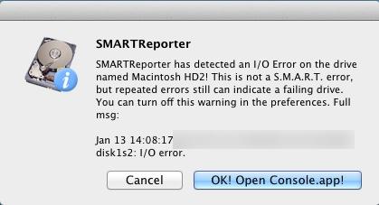 HDDが壊れかけてますね(+_+)トホ
