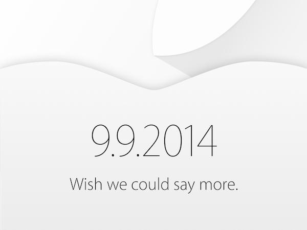 Appleスペシャルイベントの開催が9月9日に決まりました。楽しみですね!