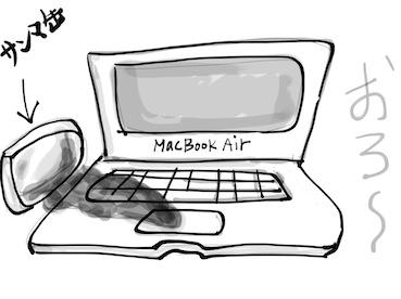 『MacBook Airのキーボードを清掃(*`・ω・)ゞ サンマ事件のその後』