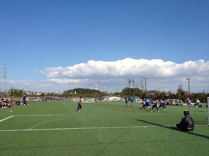 『寒い、強風〜子供のサッカー大会』