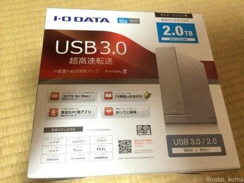 「NTFS for Mac」が付いてます。アイ・オー・データ USB3.0 外付けHDD HDCL-UTB 購入。