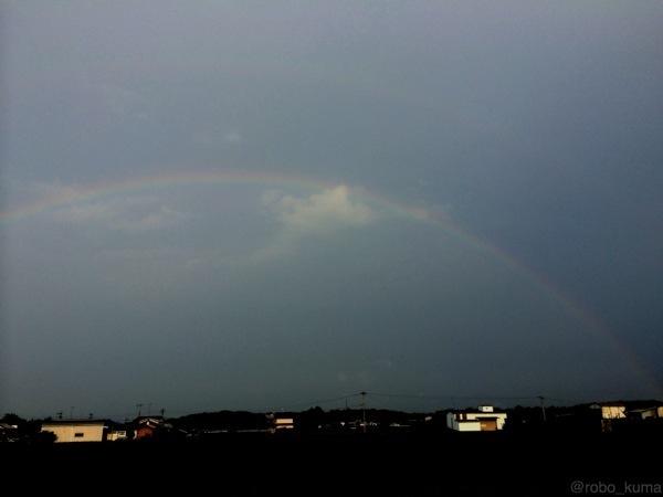 夕立、雨上がり、虹。