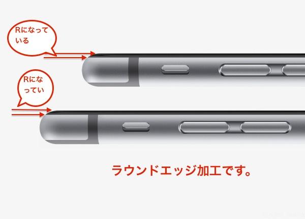 【図面から見て】iPhone 6 の前面に強化ガラスを貼るのは無理