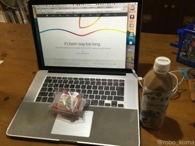 深夜の『Appleスペシャルイベント』は、お腹が空く(^^;)