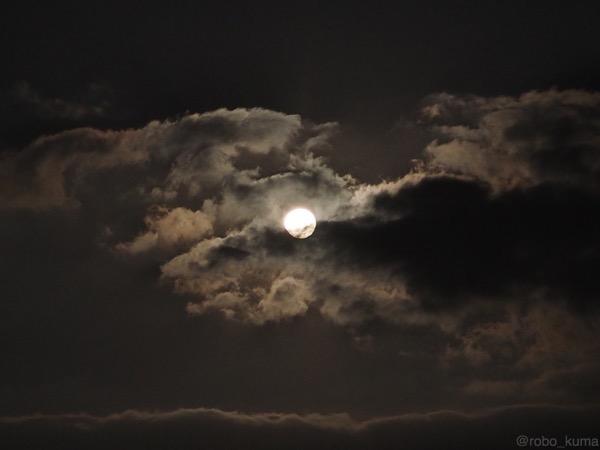今年、お初の満月。かな?実は1日遅れ(^^;)