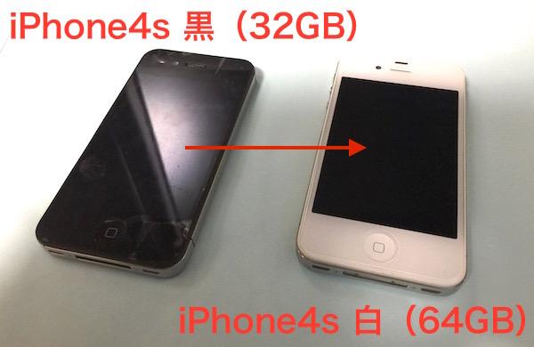 ついに長男くんの『iPhone 4s』が本当に壊れたので、私の保管中の『iPhone 4s』へ移植です(*`・ω・)ゞ