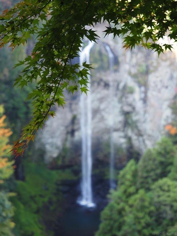 福貴野の滝。秋初旬。