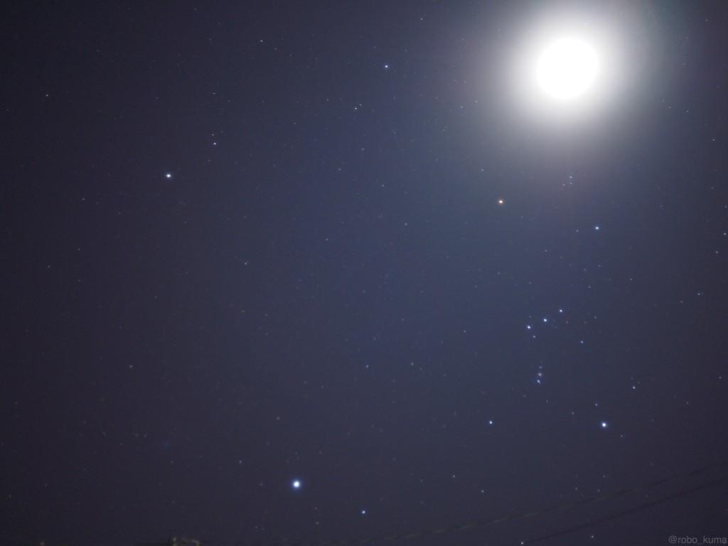 夜の空は全て星。
