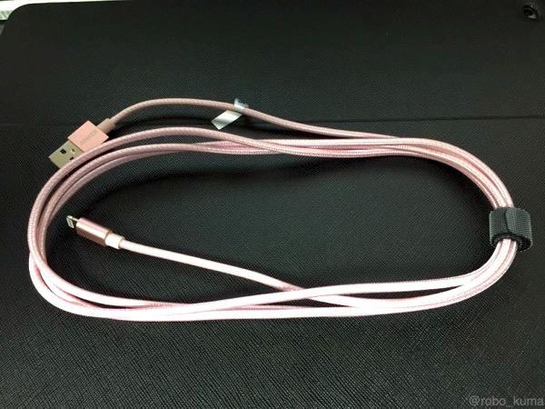 ローズゴールドが可愛い( ´艸`)。『Anker ナイロン ライトニング USBケーブル』 購入