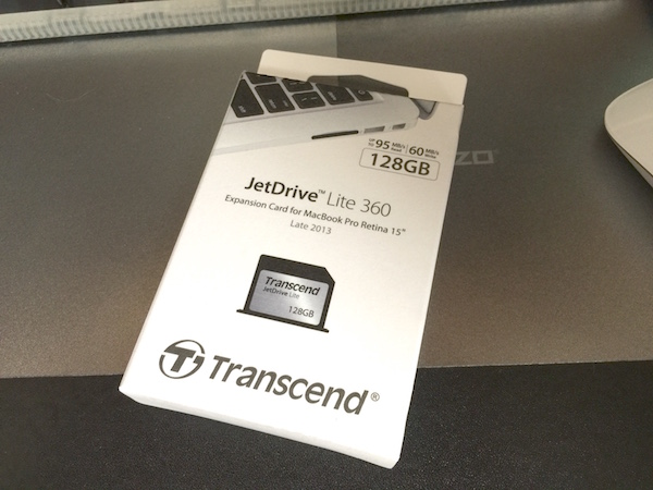 SDカードスロットを常時ドライブへ 「JetDrive Lite 360 128GB for Macbook Pro with Retina display 15″ (Late 2013)」購入(*`・ω・)ゞ