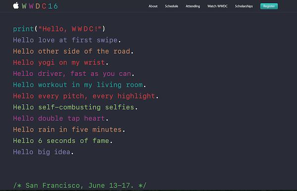 『WWDC2016』は、6月14日 午前2時からです(*`・ω・)ゞ
