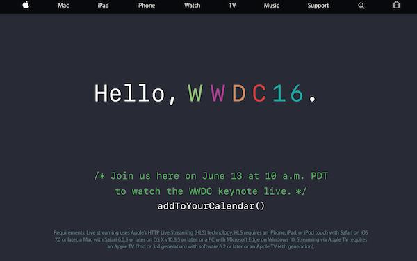 今夜はWWDC2016。基調講演を生で見よう(夜更かし)。