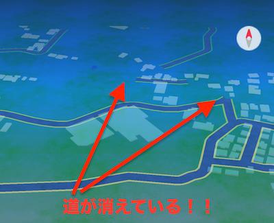 【ポケモンGO】今日の昼頃からマップがバグっています、ね。