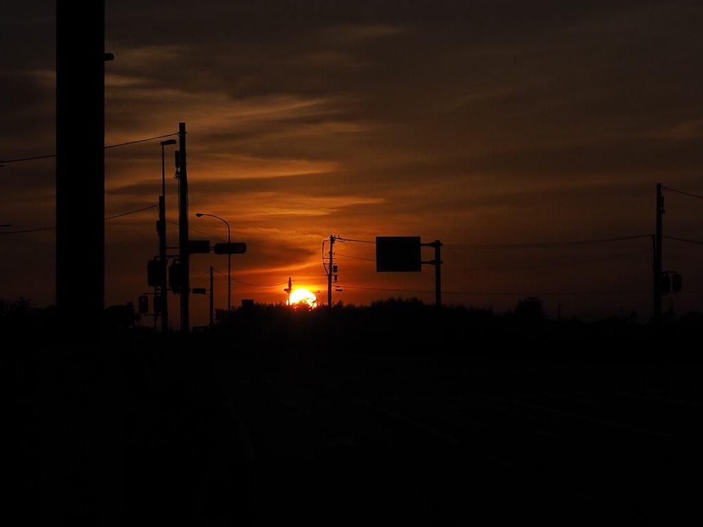 【写真】夕焼け小焼け。