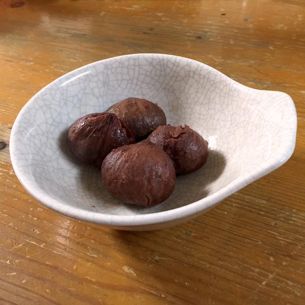 【秋の味覚】 今年も栗の渋皮煮が美味しいです(^O^)