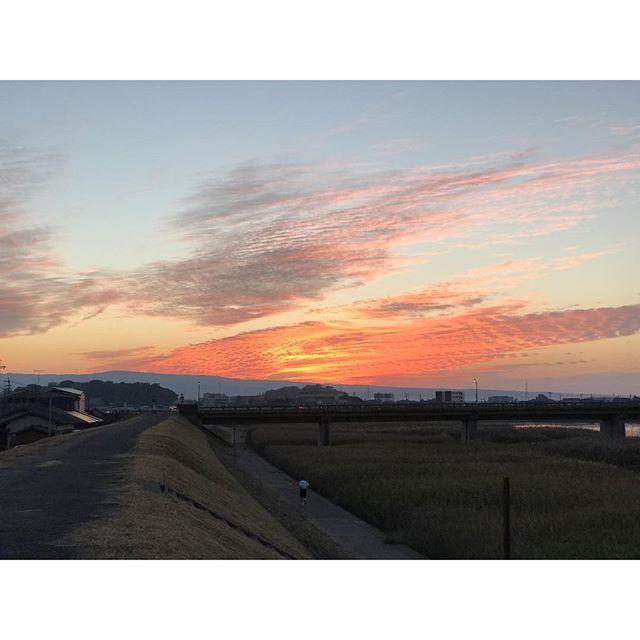 【今日の夕焼け】 夕焼け雲に吸い込まれそう! #夕焼け #雲