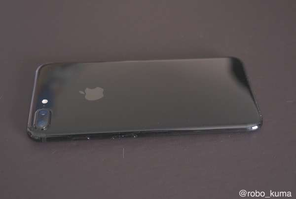 【iPhone】 iPhone 7 Plus ジェットブラック の印字は消えやすいのか確認。