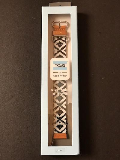 【Apple Watch】 TOMS Apple Watch バンドを購入しました。