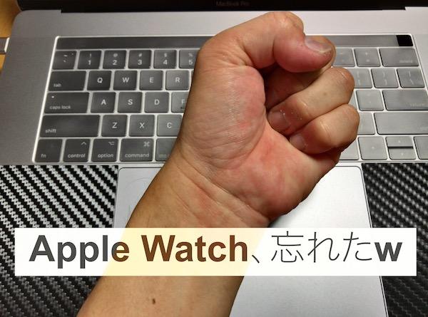 Apple Watchを忘れた一日、の感想。やはりApple Watchは必要です(*`・ω・)ゞ。