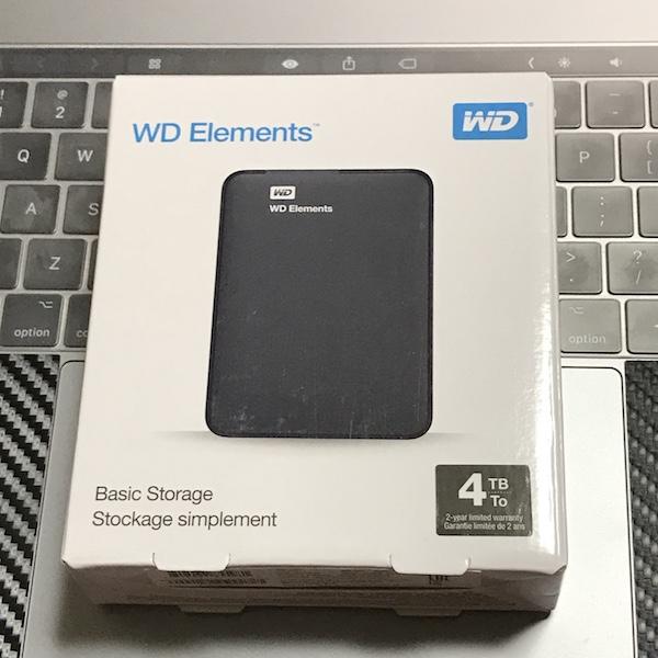『WD HDD ポータブルハードディスク 4TB』 を購入。バックアップ用です(*`・ω・)ゞ。