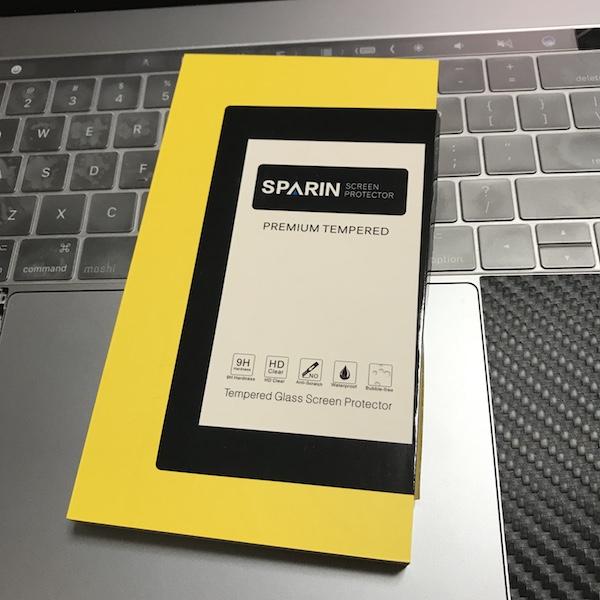 先ずは、ガラスフィルムです。『SPARIN ガラスフィルム iPhone X 3D曲面加工』購入です(*`・ω・)ゞ。