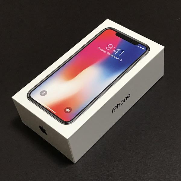 「iPhone X スペースグレイ 256GB」開封です(*`・ω・)ゞ。
