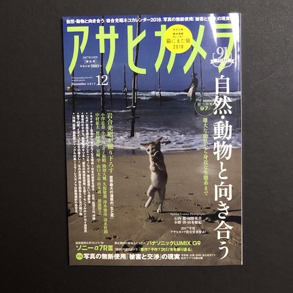 来年も岩合光昭さんの猫カレンダーですよ。雑誌『アサヒカメラ 2017年12月号』の付録です(*`・ω・)ゞ。