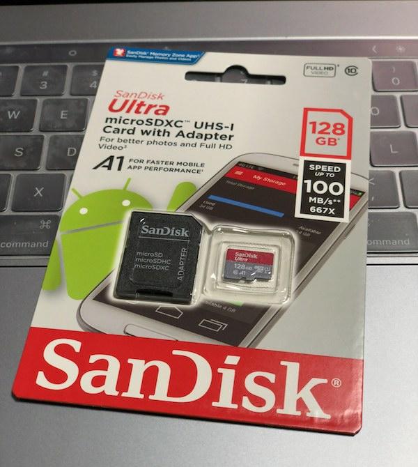 2台目の「Nintendo Switch」用に、SanDisk microSD 128GB を購入です(*`・ω・)ゞ