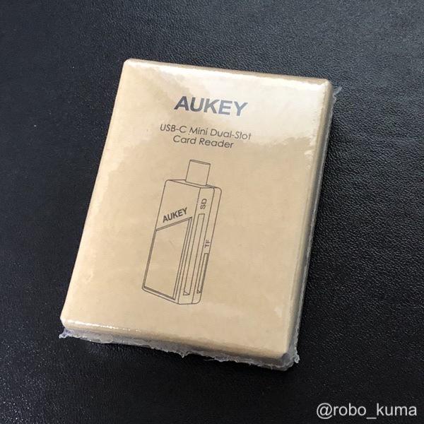 コスパ良し! 1,000円以下のUSB-Cカードリーダー。『AUKEY usb type c カードリーダー』購入。