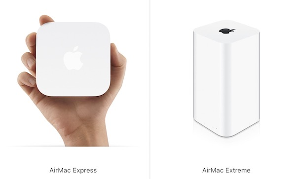 Apple Wi-Fiルーターシリーズ 「AirMac Express、Extreme 」「AirMac Time Capsule」在庫限りで発売終了へ。