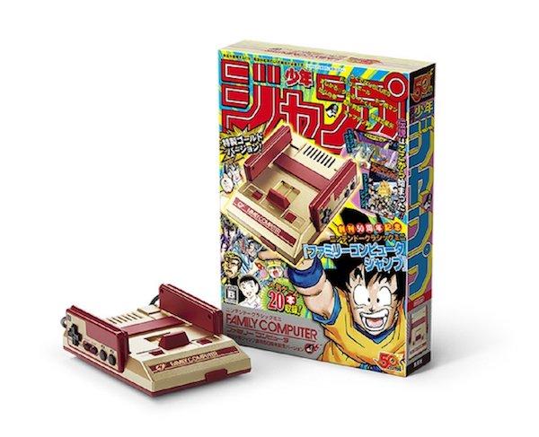 金色のファミコンが登場!!『ニンテンドークラシックミニ ファミリーコンピュータ 週刊少年ジャンプ創刊50周年記念バージョン』が、2018年7月7日に発売です。
