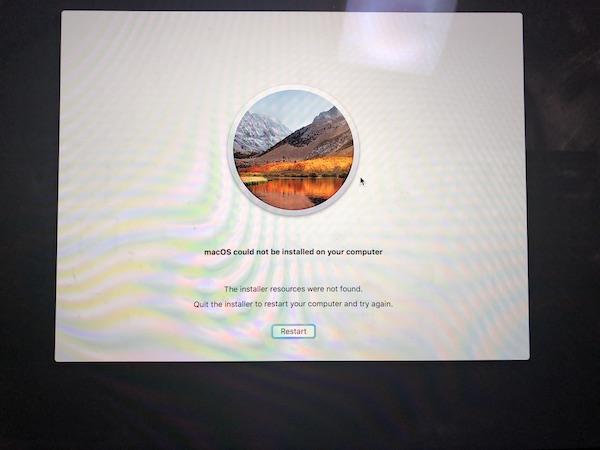 macOS High Sierra へアップグレードしたら失敗?再起動を繰り返す!(一応解決済み)