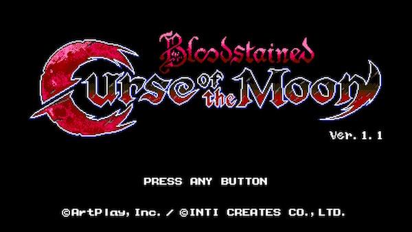 剣と鞭で戦うレトロスタイルアクションゲームが帰って来た!『Bloodstained: Curse of the Moon』。