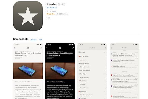 Mac、iOS用のRSSリーダーアプリ「Reader 3」が無償化? サポート終了? メジャーアップデート来る??