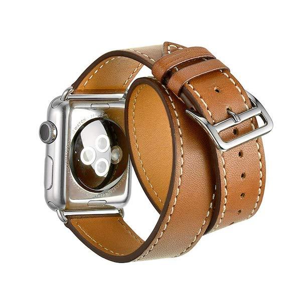 Apple Watch 44mmケース用、某ブランドの様な2重巻のレザーバンド(お安いパクリ)を買って見た(*`・ω・)ゞ。