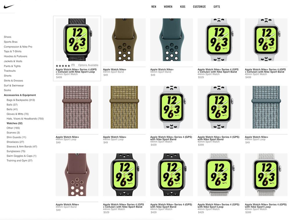 Apple Watch Nike+ 新色 スポーツバンド、スポーツループ 発売開始、米国です。日本はまだ。
