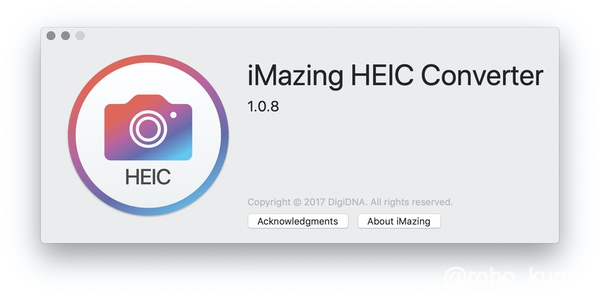 【Mac】HEIFファイルをJPEG、PINGへ変換。「iMazing HEIC Converter」アプリは便利です(*`・ω・)ゞ。