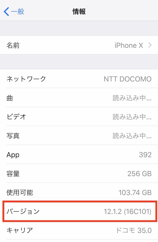「iOS 12.1.2」 を最新ビルド(16C104)にする方法。