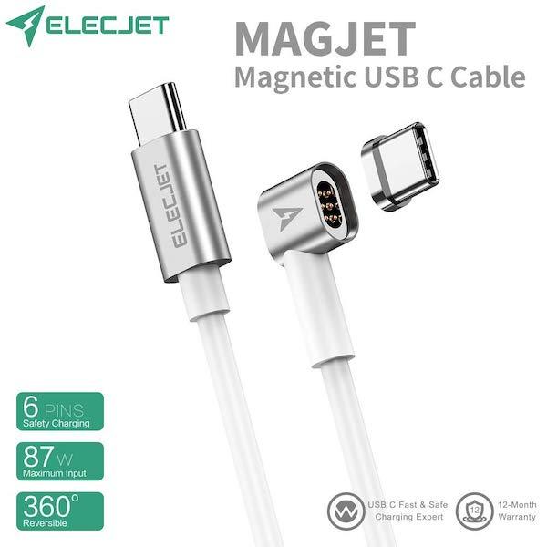 あのMagSafeをもう一度(*`・ω・)ゞ。『Elecjet Magnetic USB C Cable』でMagSafeが復活できます。