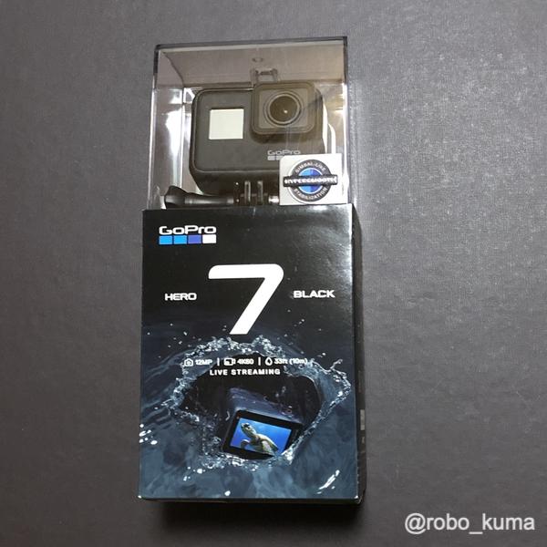 「GoPro HERO7 Black」購入(*`・ω・)ゞ。 我慢出来ずに買っちゃいました( ´艸`)。
