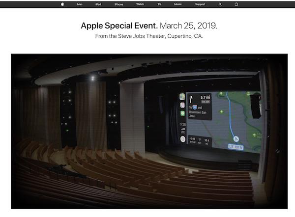 Appleスペシャルイベント「It's show time.」開始前から会場のライブストリーミング配信中。ライブなのか?