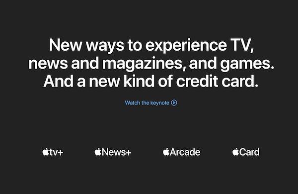 Appleスペシャルイベント「It's show time.」のまとめ。時代はサブスクリプションへ・・・。(Apple Cardが欲しい!)
