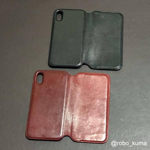 iPhone Xレザーフォリオ – (PRODUCT)RED と iPhone Xレザーフォリオ – ブラックをメンテナンス。