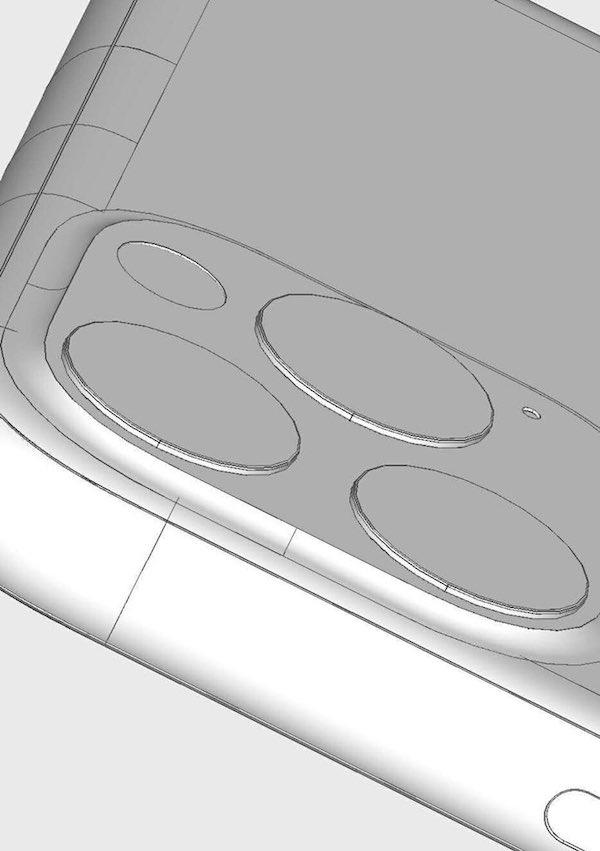 2019年モデル iPhone のカメラ部は正方形出っ張りで決まりか・・・CADデータやレタリング画像から予想。本当にこのデザインで行くのか(●°ᆺ°●)。
