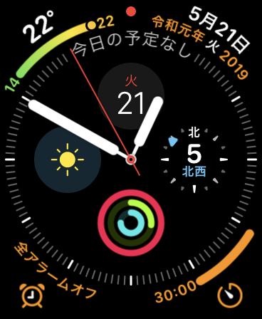 Apple Watch の「天気」Appの 風速単位のバグが改善されています。watchOS 5.2以降。