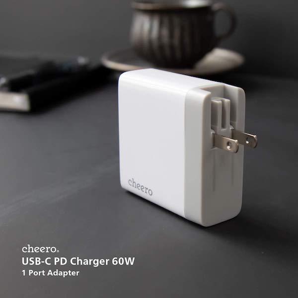 『cheero USB-C PD Charger 60W』ACアダプタ販売開始です。小さくてパワフルなACアダプタ(*`・ω・)ゞ。