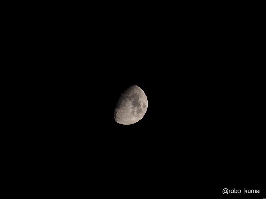 「2x テレコンバータ MC-20」+「M.ZUIKO ED40-150mm F2.8PRO」でお月様を撮影。2倍はイイな╭( ・ㅂ・)و ̑̑ グッ !