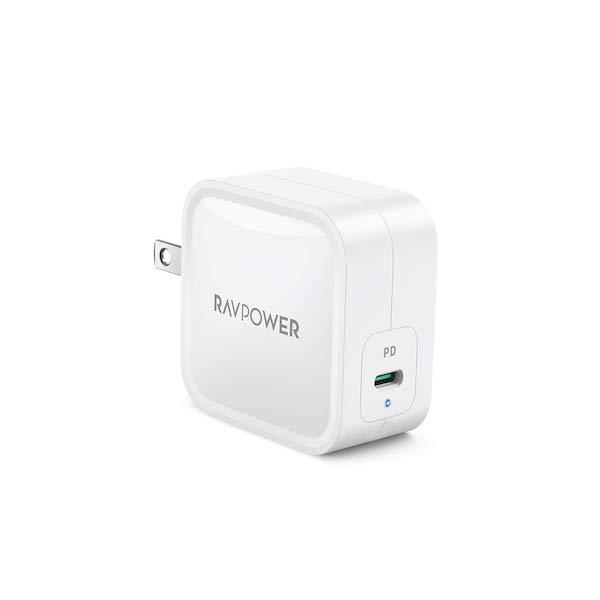 RAVPower 61W USB-C PD充電器 PD3.0対応 「RP-PC112」の発売開始(*`・ω・)ゞ。GaN採用の小型急速充電器です。