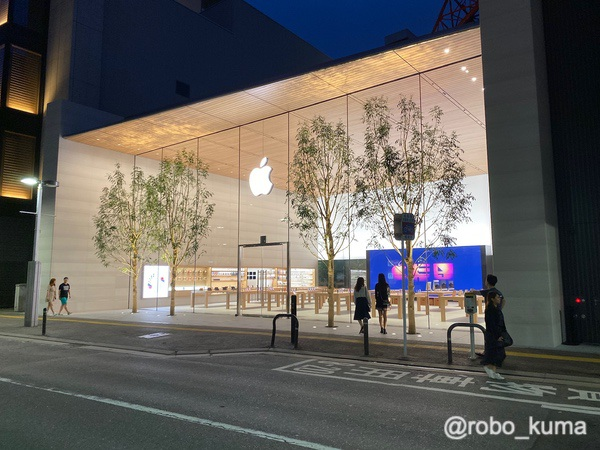 「Apple 福岡」オープン。和風な店舗で広々で美しい。オープニングに行っていました(*`・ω・)ゞ。