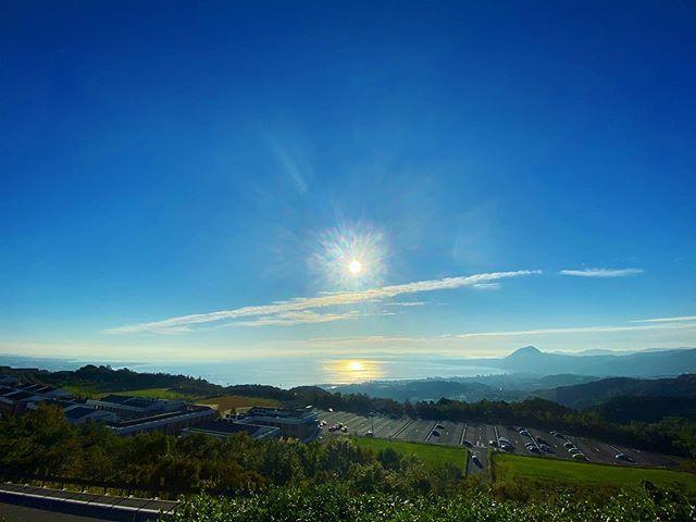 別府湾の朝日(iPhone 11Pro Max 超広角)